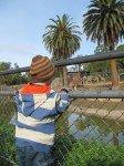 Tyler Admiring the Giraffes