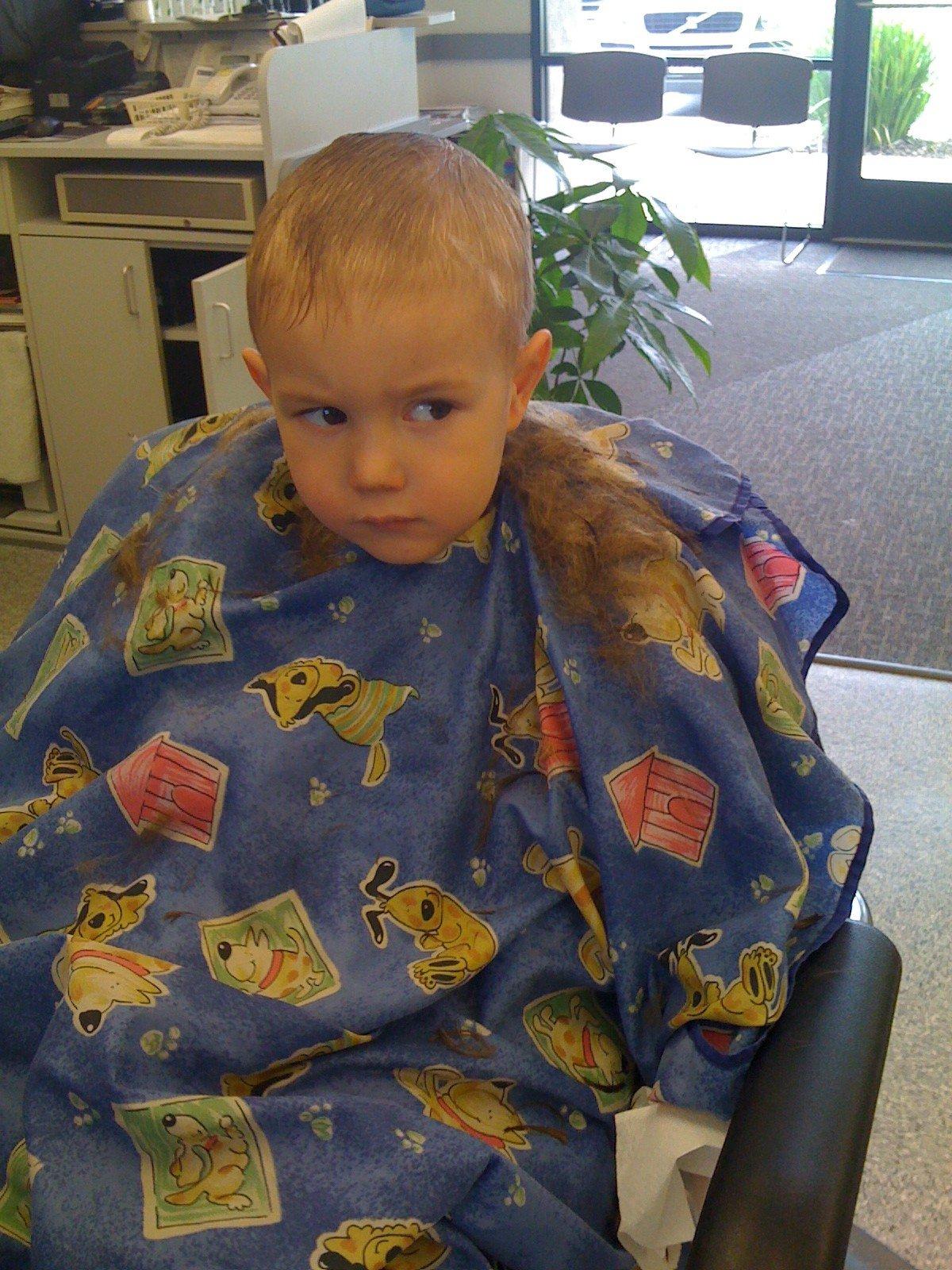 Tylers First Big Boy Haircut